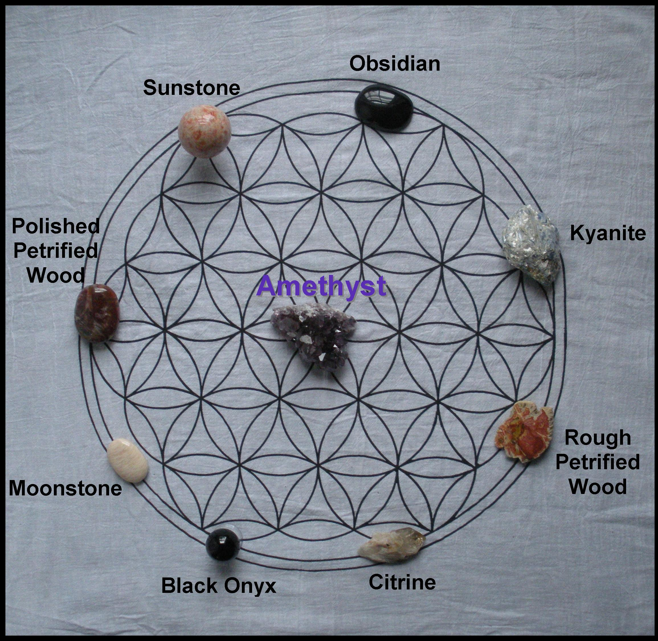 how to use a crystal grid